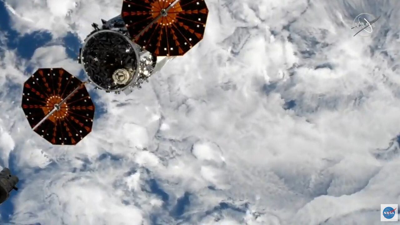 Northrop Grumman's Cygnus spacecraft leaving the space station, will test new technology before destruction