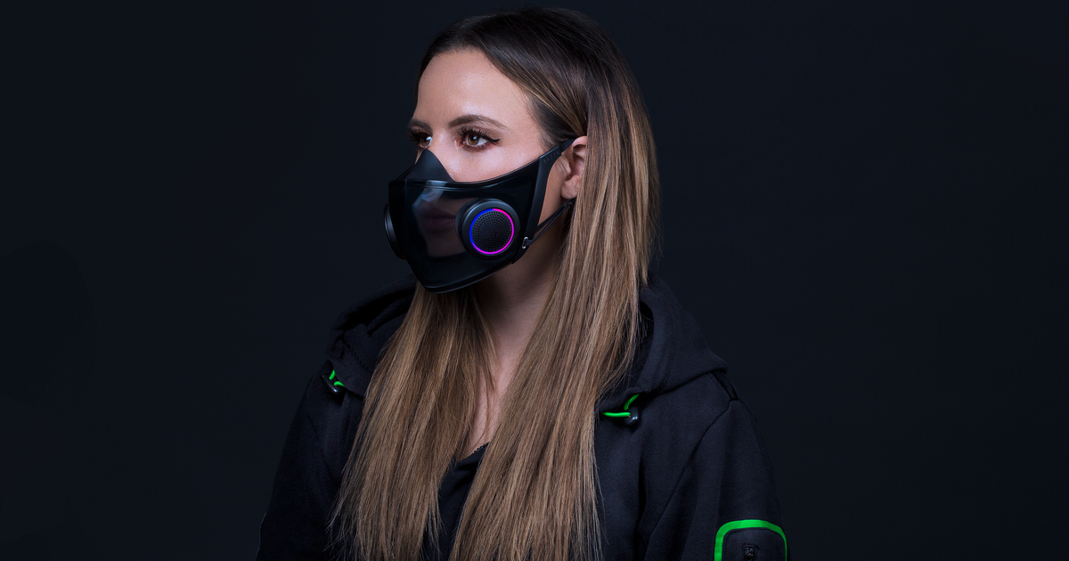 Razer is adding a smart twist to the N95 face mask at CES 2021 with the Project Hazel concept