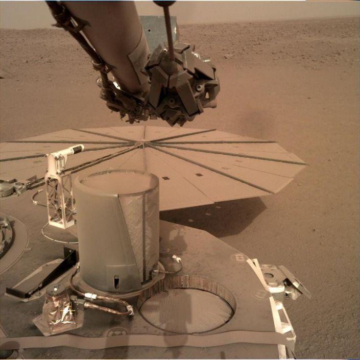 Insight Mars Lander NASA Dust solar panels