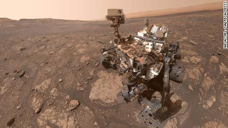 NASA's Curiosity Mars probe took this selfie at a location called & quot;  Mary Anning & quot;  After the English paleontologist in the nineteenth century.