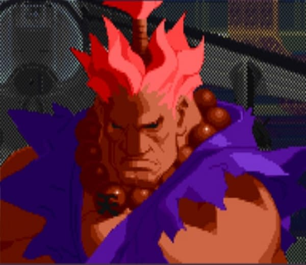 That is it, the purple guy!  Courtesy of Capcom.